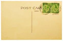 Unbelegte Postkarte lizenzfreies stockbild
