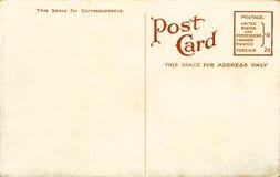 Unbelegte Postkarte der Weinlese Stockfotos