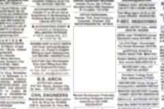 Unbelegte Reklameanzeige auf eingestuften Anzeigen lizenzfreie stockbilder