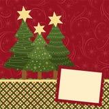 Unbelegte Schablone für Weihnachtsgrußkarte lizenzfreie abbildung
