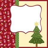 Unbelegte Schablone für Weihnachtsgrußkarte Stockbild