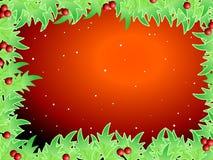 Unbelegte Schablone für Weihnachtsgrußkarte Lizenzfreies Stockbild