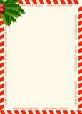 Unbelegte Schablone für Weihnachtsgrußkarte Stockbilder