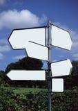 Unbelegte Signposts Stockfoto