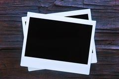 Unbelegte sofortige Foto-Felder Stockbild