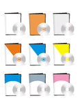 Unbelegte Software-Kästen mit dvd Lizenzfreies Stockbild