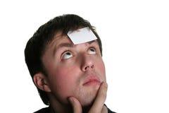 Unbelegte Stirn drei Lizenzfreie Stockbilder