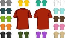 Unbelegte T-Shirts stock abbildung