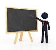 Unbelegte Tafel mit Lehrer Lizenzfreies Stockfoto