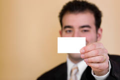 Unbelegte Visitenkarte Lizenzfreie Stockbilder