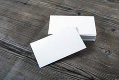 Unbelegte Visitenkarten Lizenzfreie Stockbilder