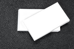 Unbelegte Visitenkarten Spott oben zu Ihrer Information Lizenzfreies Stockbild