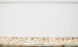 Unbelegte Wand und Bürgersteig lizenzfreies stockbild