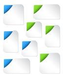 Unbelegte Web-Fahnen-Schablonen Stockfoto