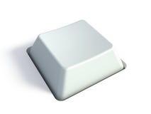Unbelegte weiße Taste stock abbildung
