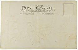 Unbelegte Weinlese-Postkarte Stockfotos