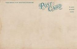 Unbelegte Weinlese-Postkarte 1900's Stockfotografie