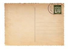 Unbelegte Weinlesepostkarte Stockbild