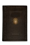 Unbelegter alter Bucheinband Stockbild