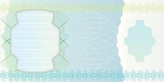 Unbelegter Banknoteplan Stockfoto