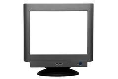 Unbelegter Computer-CRT-Bildschirm   Stockfotografie
