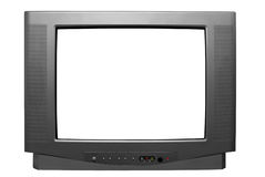 Unbelegter Fernsehbildschirm auf Weiß lizenzfreie stockfotos