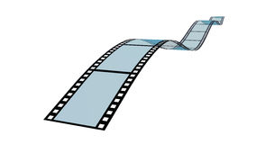 Unbelegter Filmstreifen Lizenzfreie Stockfotos