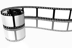 Unbelegter Filmstreifen Lizenzfreie Stockfotografie