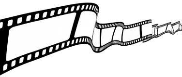Unbelegter Filmstreifen Stockbilder