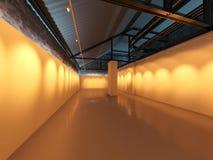 Unbelegter Galerieausstellunginnenraum Lizenzfreies Stockfoto