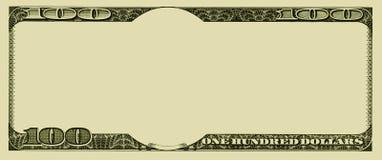 Unbelegter Geldhintergrund Stockfotos