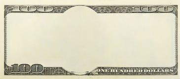 Unbelegter Geldhintergrund Stockfoto