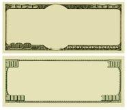 Unbelegter Geldhintergrund Stockbilder