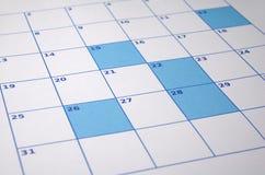 Unbelegter Kalender Lizenzfreies Stockbild