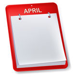 Unbelegter Kalender Lizenzfreie Stockfotos