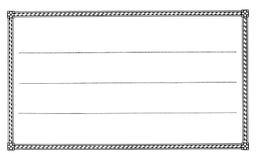 Unbelegter Kennsatz 3 Stockfotografie