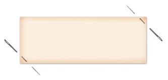 Unbelegter Kennsatz festgesteckt Lizenzfreies Stockbild