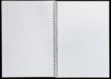 Unbelegter Notizblock Stockbilder