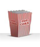 Unbelegter Popcornkasten lizenzfreie abbildung