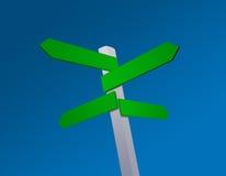 Unbelegter Richtungen Signpost vektor abbildung