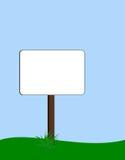Unbelegter Signpost Lizenzfreie Stockbilder