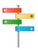 Unbelegter Signpost. Vektorabbildung. stock abbildung