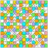 Unbelegter transparenter Hintergrundpuzzlespiel-Tischlerbandsägevektor Stockfotografie