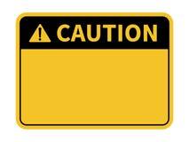 Unbelegtes Achtung-Zeichen Gelber Hintergrund Hintergrund mit Raum f?r Textschreiben Auch im corel abgehobenen Betrag lizenzfreie abbildung