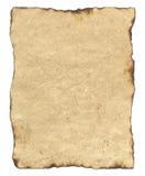 Unbelegtes altes Pergamentpapier Stockbild