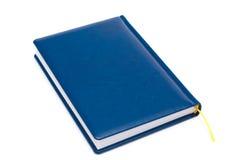 Unbelegtes blaues Leder abgedecktes Buch getrennt Stockbilder