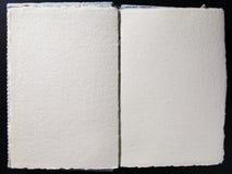 Unbelegtes Buch whith leere Seiten Stockbild