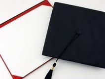 Unbelegtes Diplom Stockbild