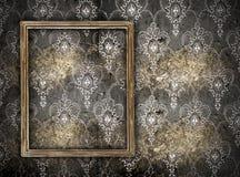 Unbelegtes Feld auf Wand Stockfotos