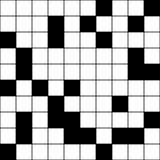 Unbelegtes Kreuzworträtsel - nahtlose Hintergrund-Beschaffenheit lizenzfreie abbildung